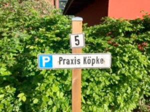 Parkplatz Praxis Köpke Hamburg Sasel